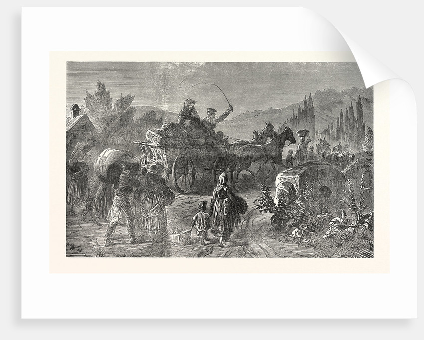 French Peasant Families on the Run, France by Anonymous