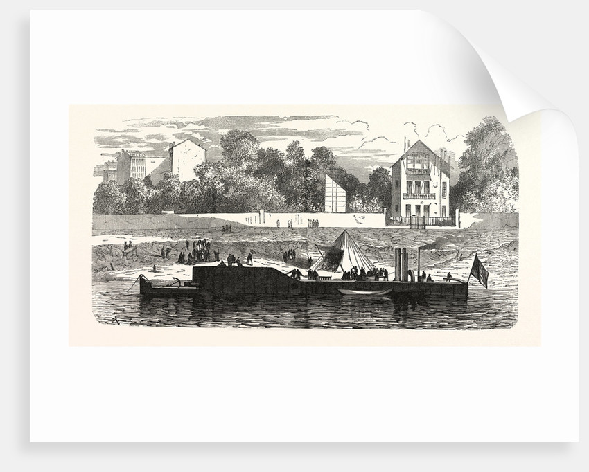 Gunboat to Protect the Banks of the Seine, France by Anonymous
