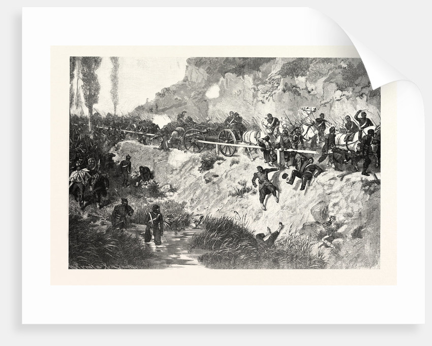 Escape to Metz of the French on the Evening of the Battle of Gravelotte, the 18 August 1870, France by Anonymous