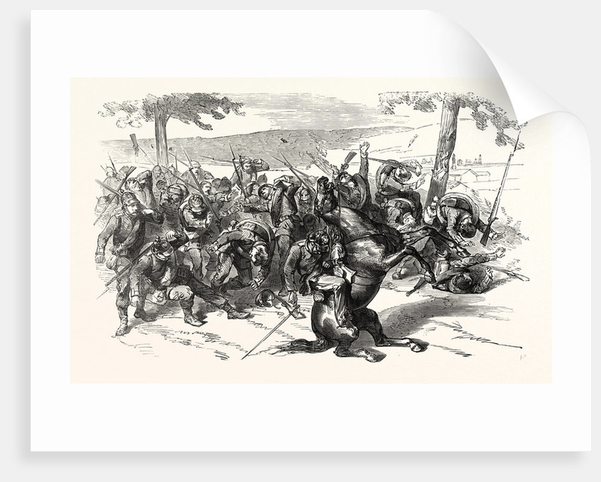 A Prussian Battalion is Mowed Down by a French Mitrailleusenbatterie at Saarbrucken, Germany by Anonymous
