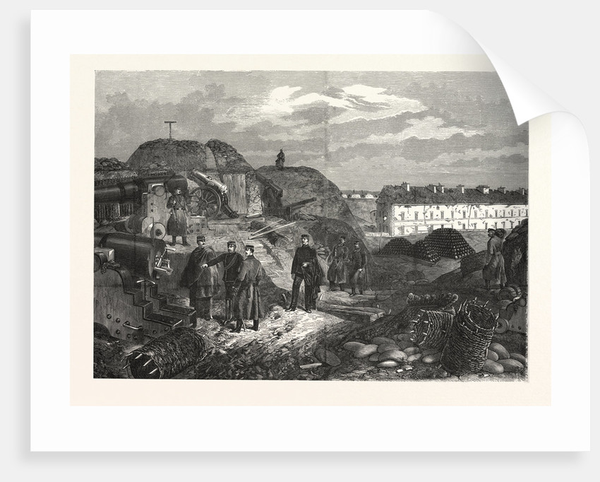 Inside View of Fort Nogent Outside Paris after Occupation by Wurttemberg Troops by Anonymous