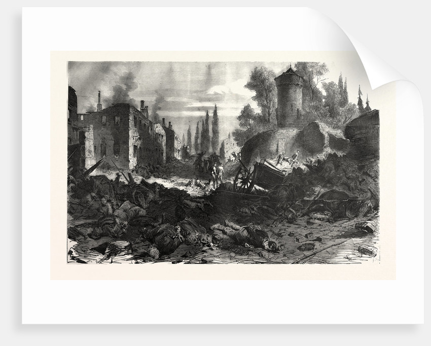 Bazeilles Taken by the Bavarians in the Night of September 1 1870 by Anonymous