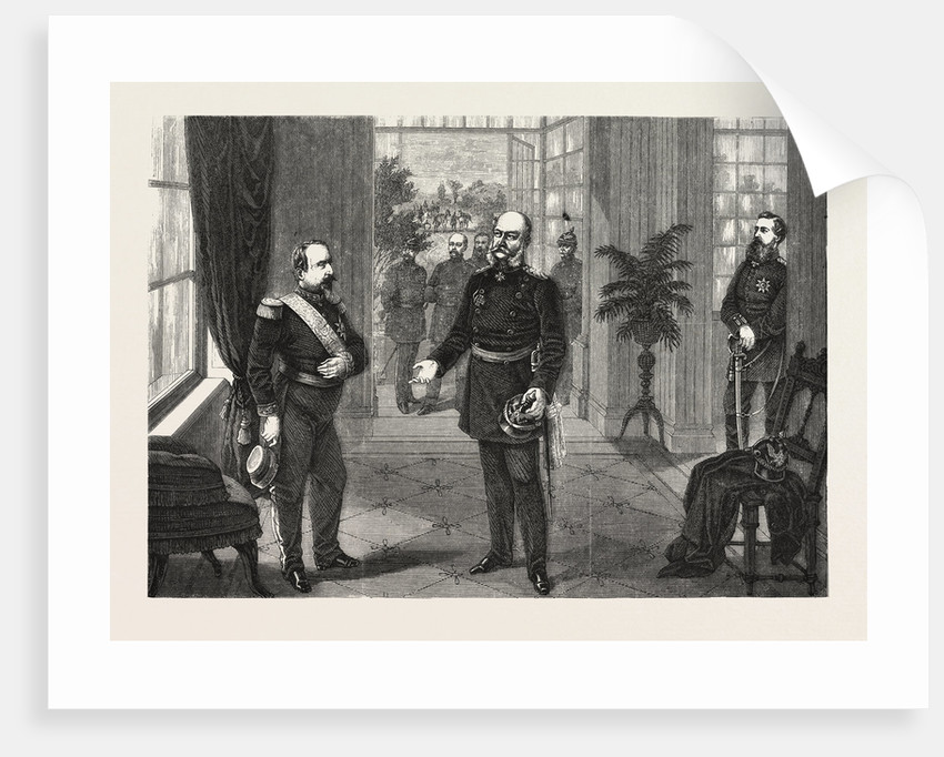 King William and the Emperor Napoleon at the Chateau De Bellevue Near Sedan, September 2 1870 by Anonymous