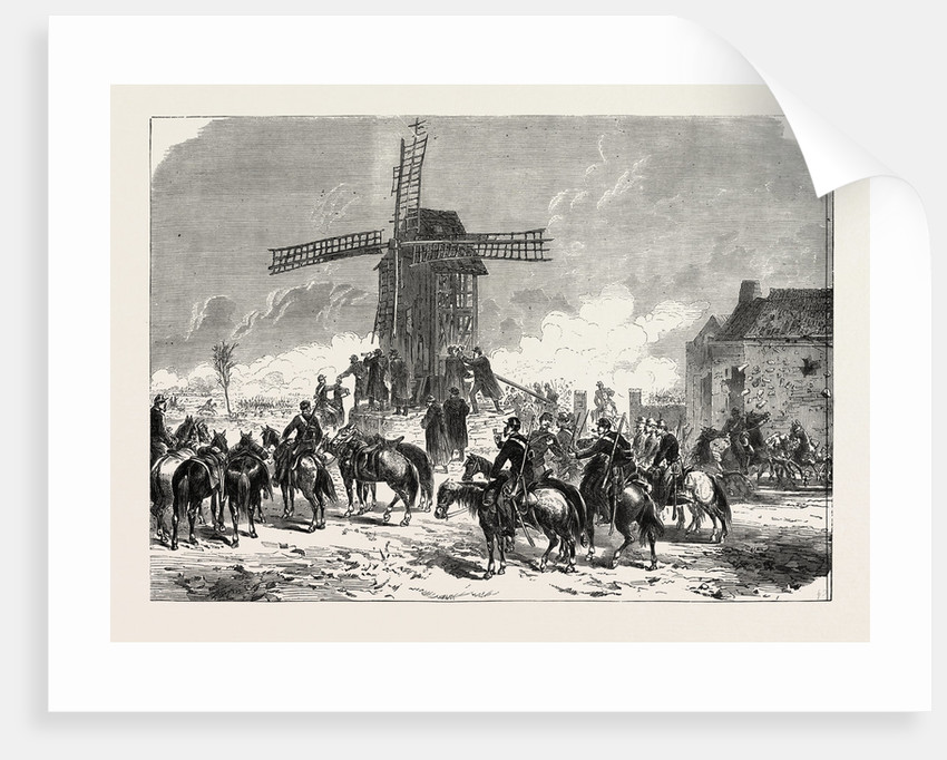 General Faidherbe at Moulin De Tout-Vent During the Battle of Saint-Quentin, January 19, 1870 by Anonymous