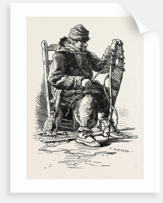 French Canadian Life, Habitant and Snow-Shoes, Canada by Anonymous