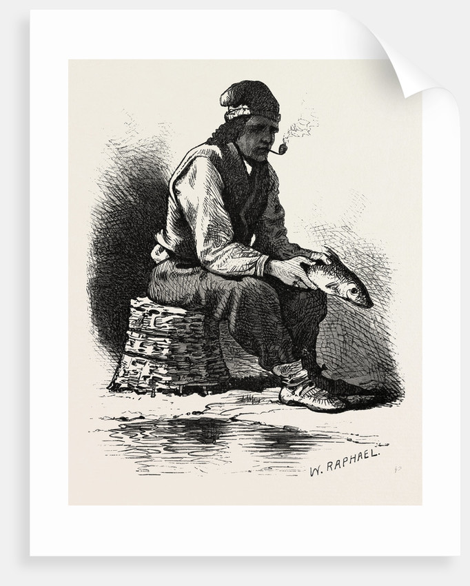 French Canadian Life, Half-Breed Fisherman, Canada by Anonymous