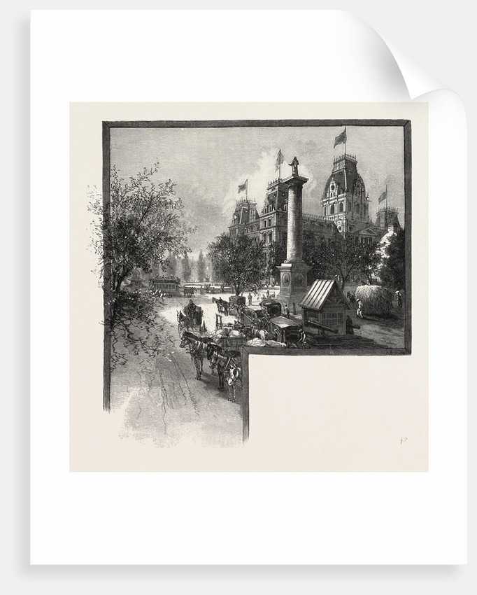 Montreal City Hall Canada: Montreal, City Hall And Nelson's Monument, Canada Posters