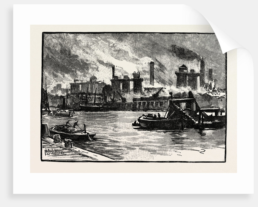 Blast Furnaces, from the River, Middlesbrough by Anonymous