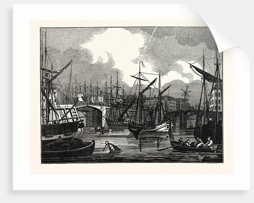 Hull, in Yorkshire. View of the North Bridge by Anonymous