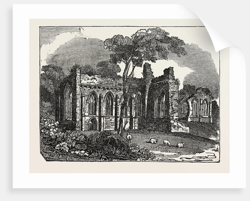 Egglestone Abbey, on the Southern (Yorkshire) Bank of the River Tees in County Durham, England by Anonymous