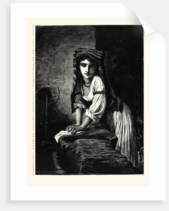 La Lavandière, Washerwoman by Anonymous