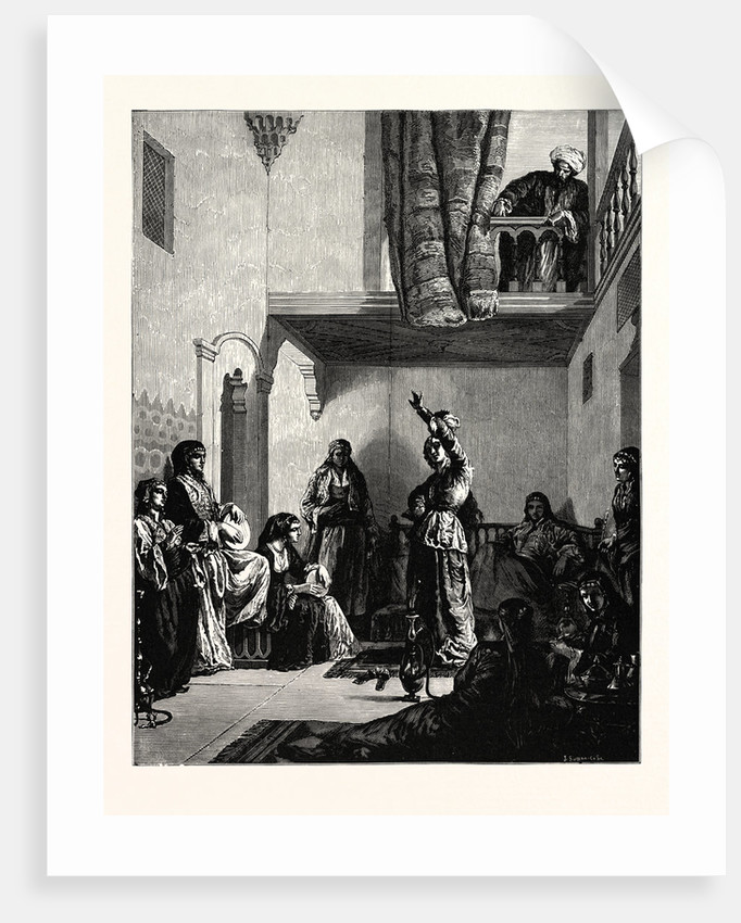 A Turkish Courtyard Scene by Anonymous