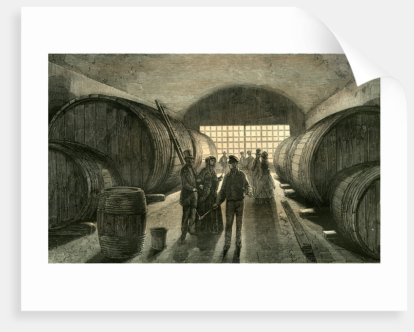 Caves Wine Champagne France 19th Century by Anonymous