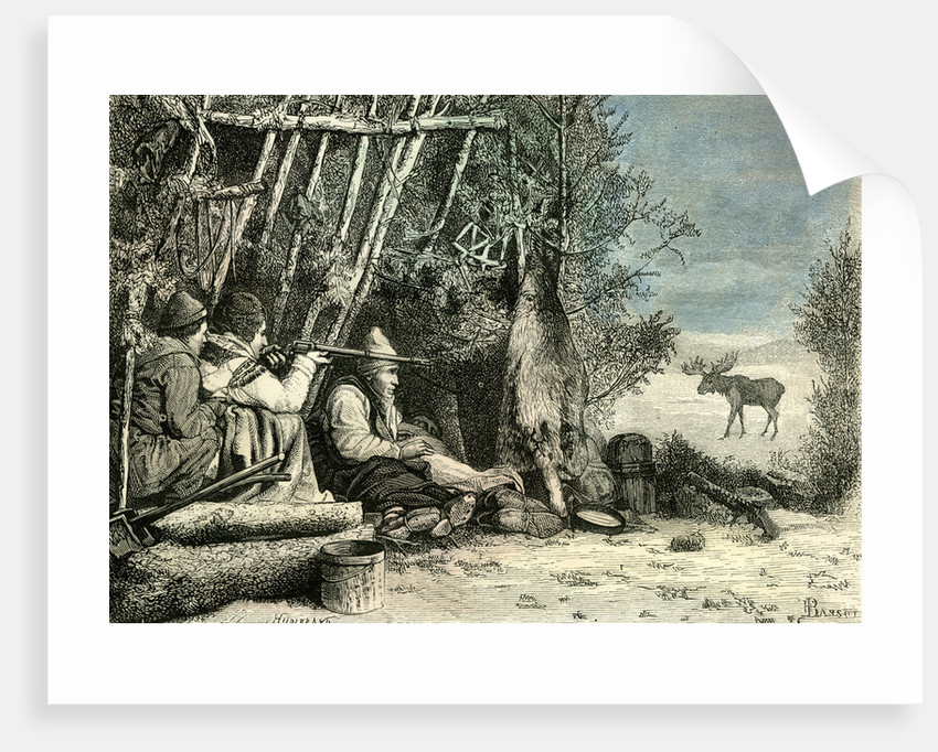 Caribou Hunt Canada 19th Century by Anonymous