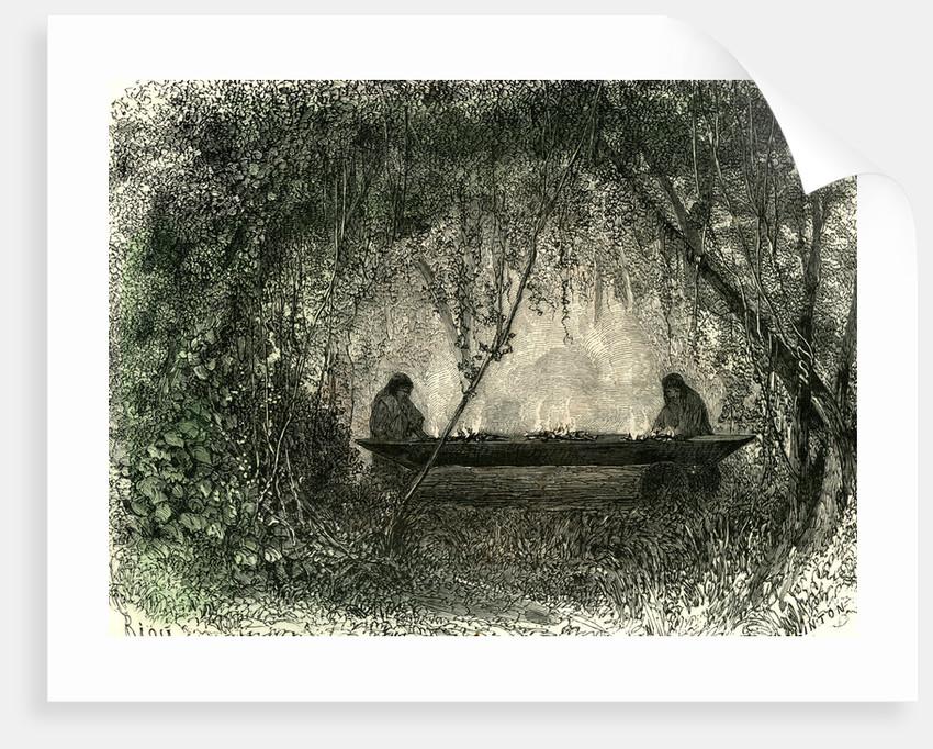 Canoe Fabrication 1869 Peru by Anonymous