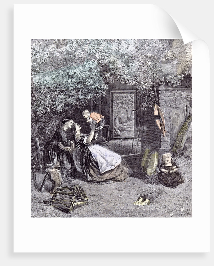 Happy Days in the Garden Children C.J. Lewis 1860 by Anonymous