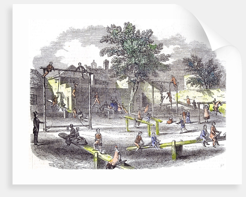 Gymnasia and Play Ground of the Children of the Infant School by Anonymous