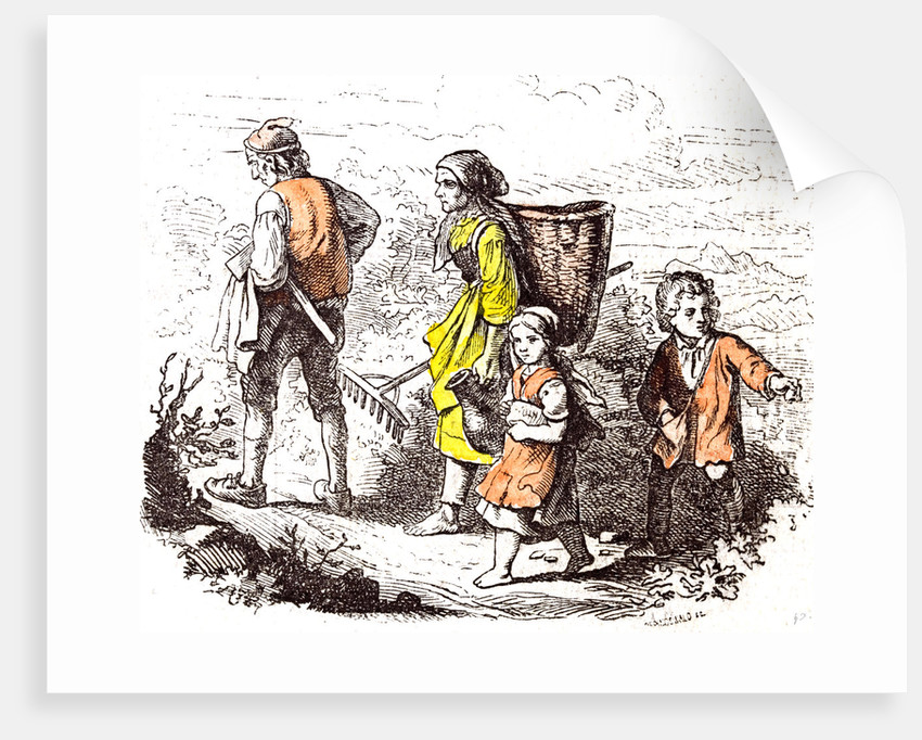 Family Coming Back from the Field 1855 by Anonymous