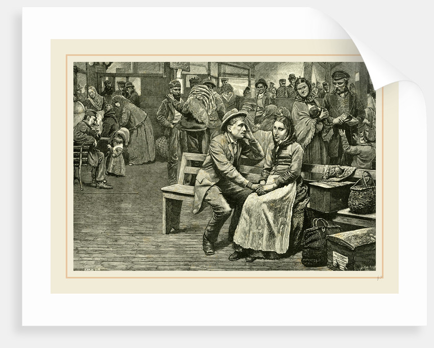 Immigrants at New York, 1891 by Anonymous