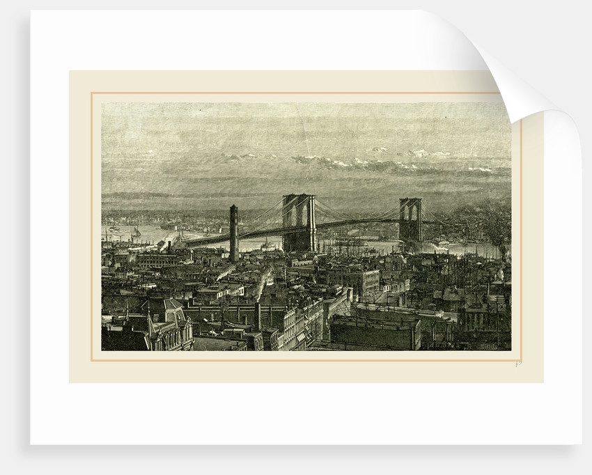 View of the Bridge from the New York Side, 1891 by Anonymous