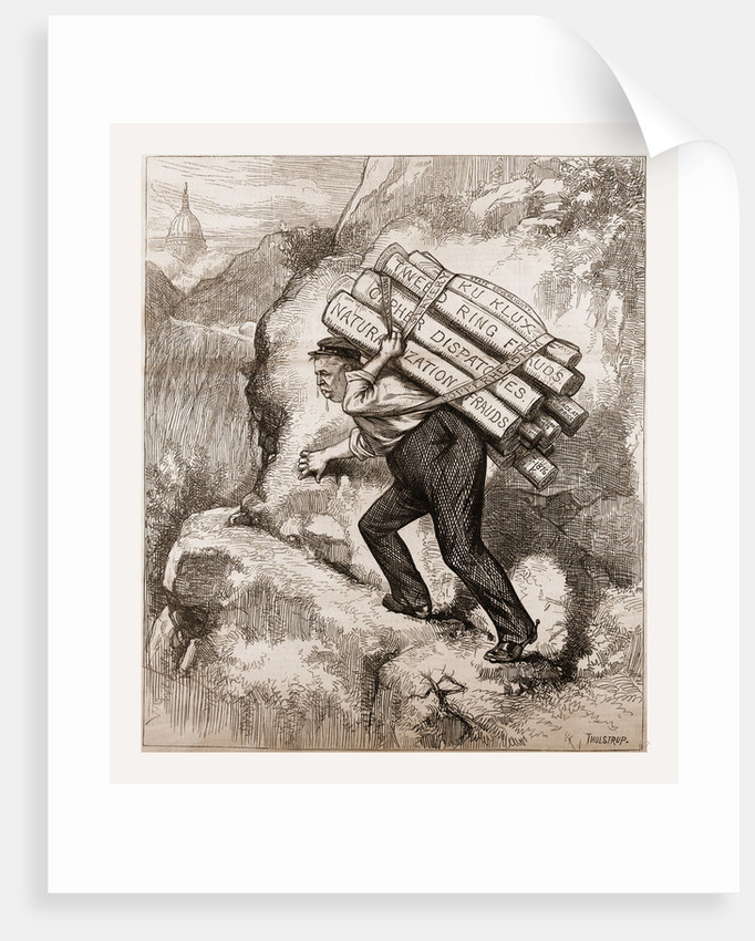 Up-hill Work, 1880 by Anonymous