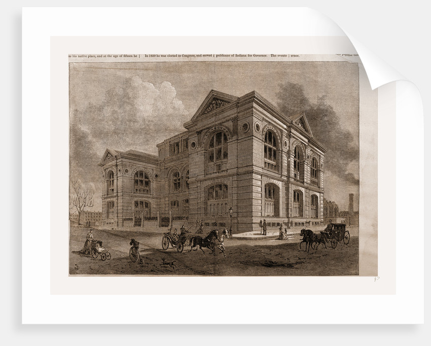 The Lenox Library, Fifth Avenue, New York City by Benjamin Day