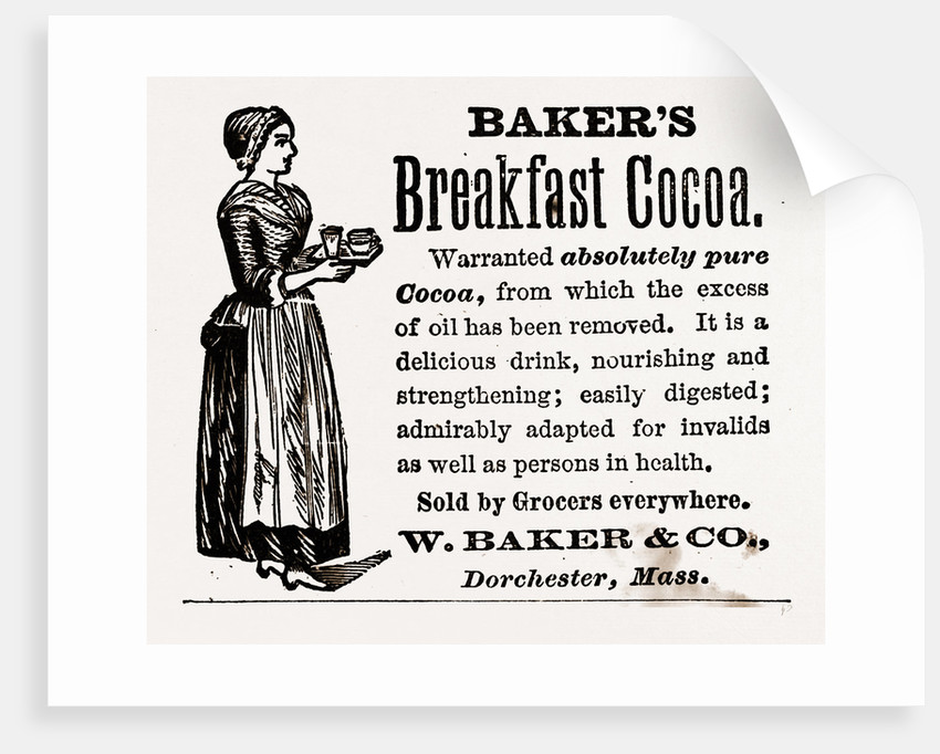 Baker's Breakfast Cocoa, 1880 by Anonymous