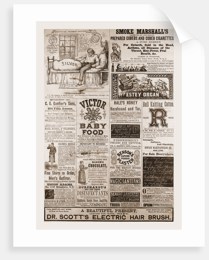 Advertising 1880, USA, Us, America by Anonymous