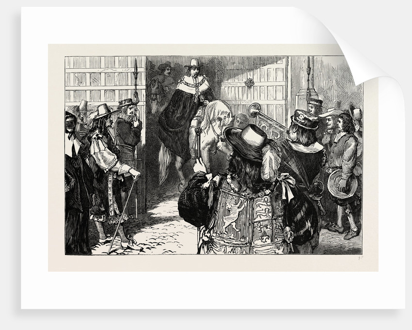Proclamation of Charles Ii At Temple Bar by Anonymous
