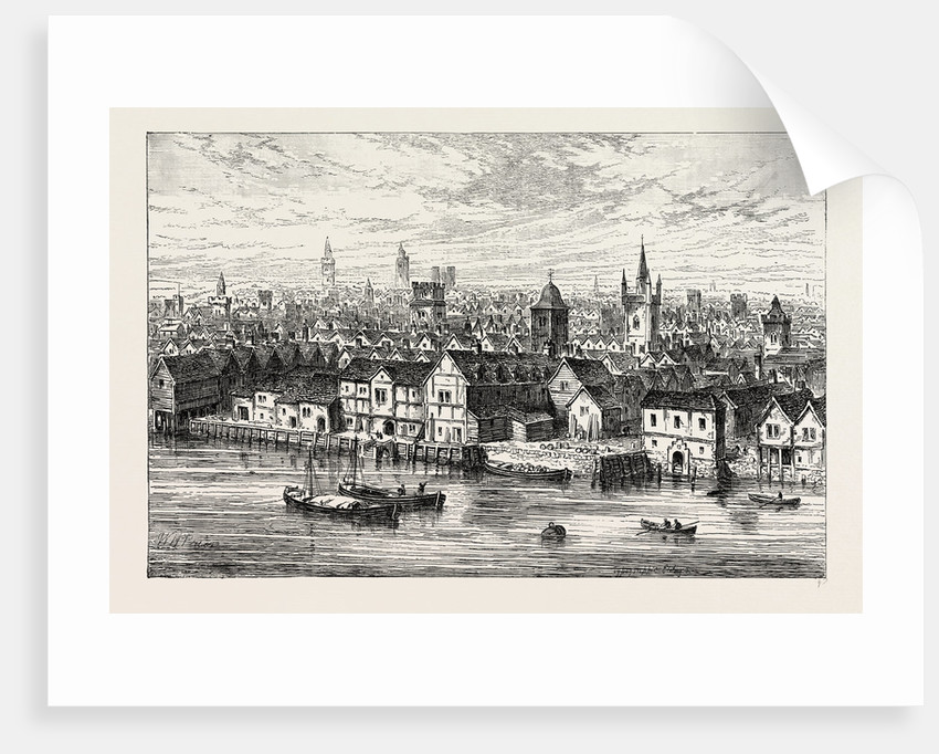 The Steel Yard And Neighbourhood in 1540 by Anonymous