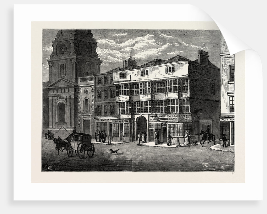 The White Hart, Bishopsgate Street, in 1810 by Anonymous