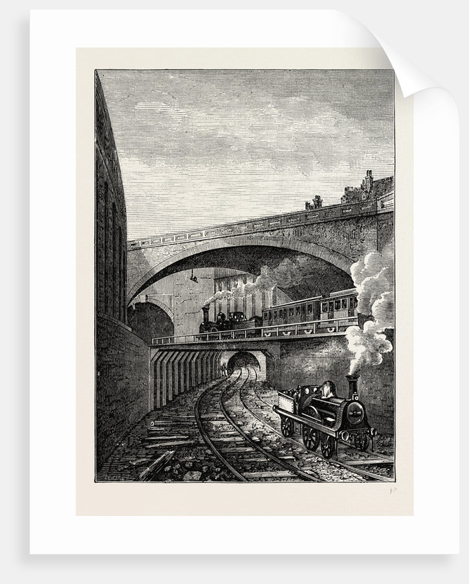 Entrance to the Clerkenwell Tunnel From Farringdon Street by Anonymous