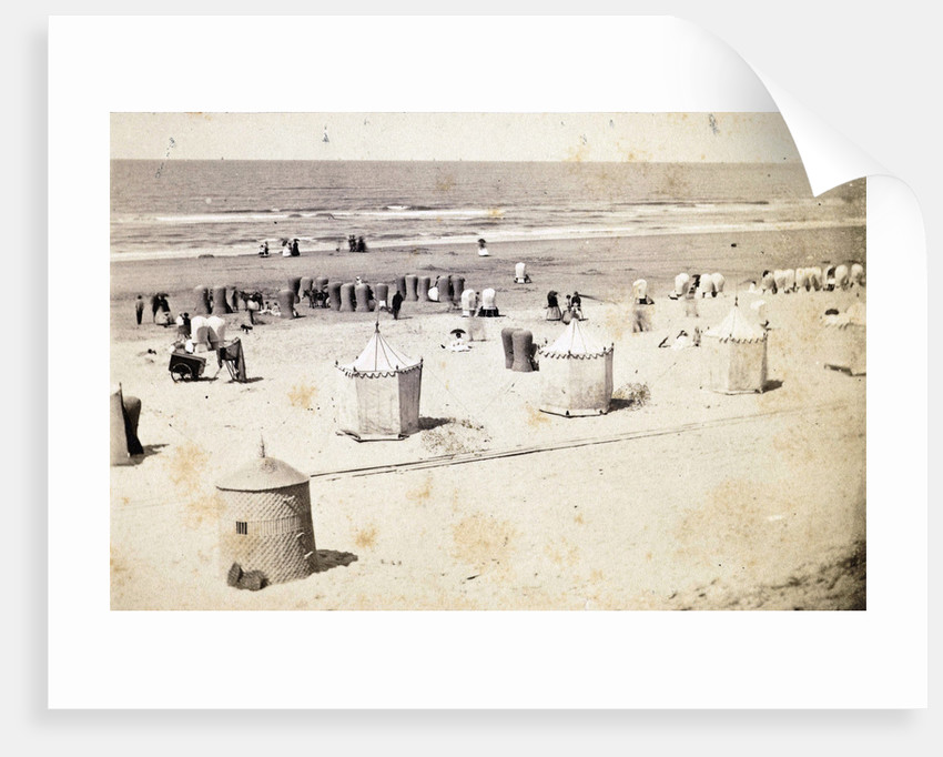 View of the beach at Scheveningen, Netherlands, having left a camera on tripod by Anonymous