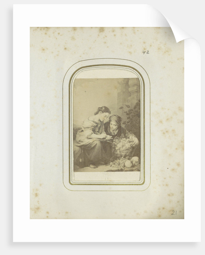 lithograph of a painting by Bartolomé Esteban Perez Murillo, Piloty & Löhle by Anonymous