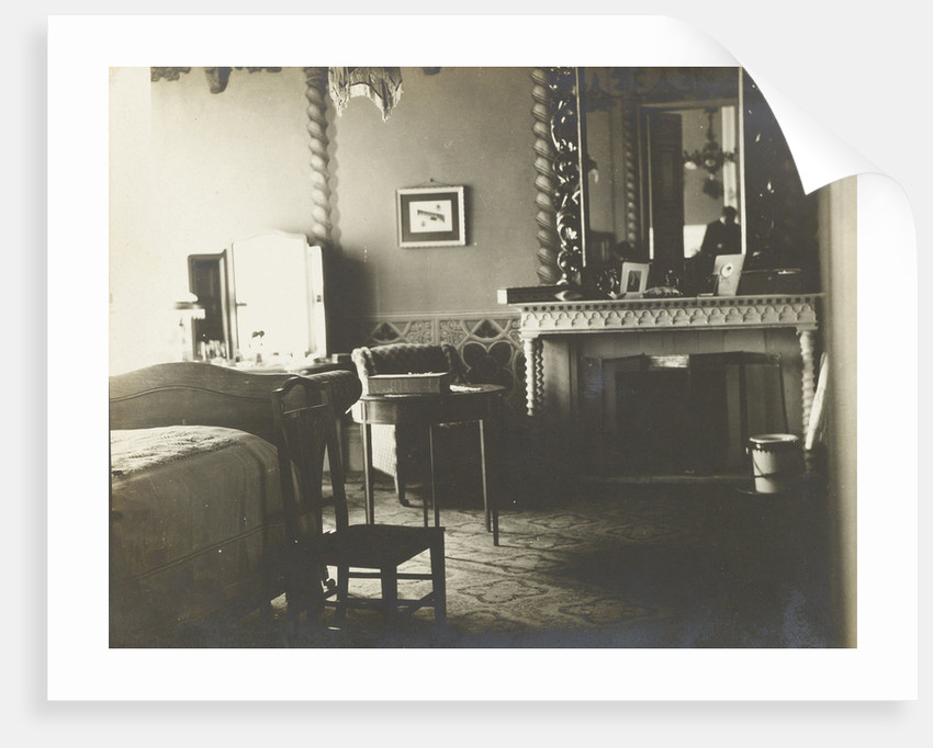 Interior of a bedroom by Anonymous