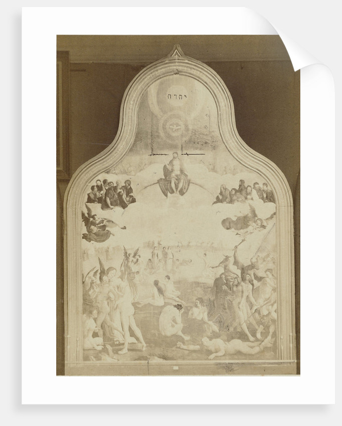 Reproduction of the altarpiece of the Last Judgment by Jan Goedeljee