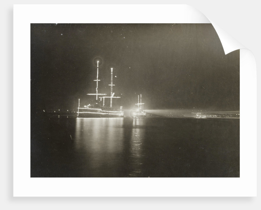 Illuminated ship in Amsterdam by Anonymous