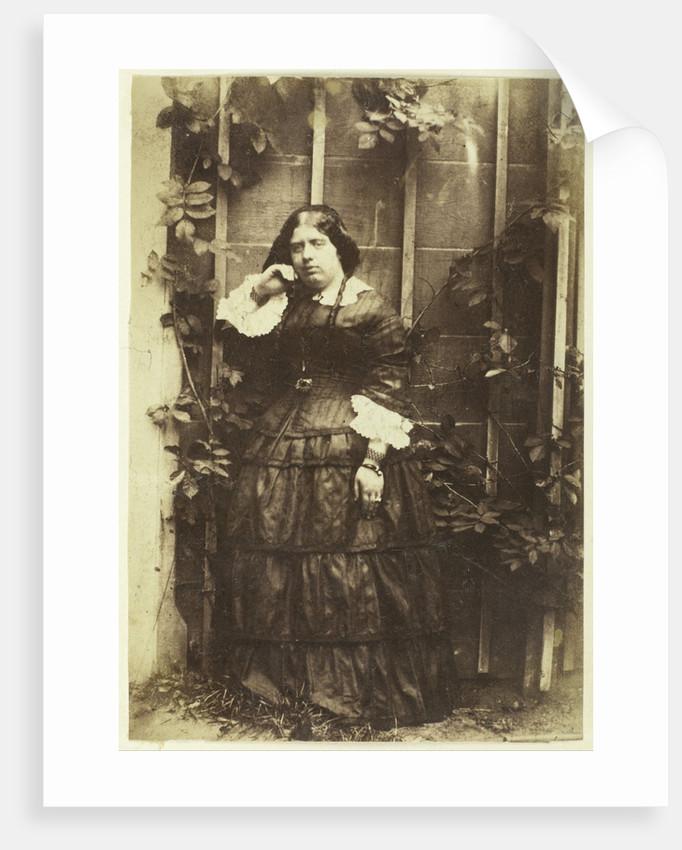Portrait of Caroline Asser in a garden by Eduard Isaac Asser