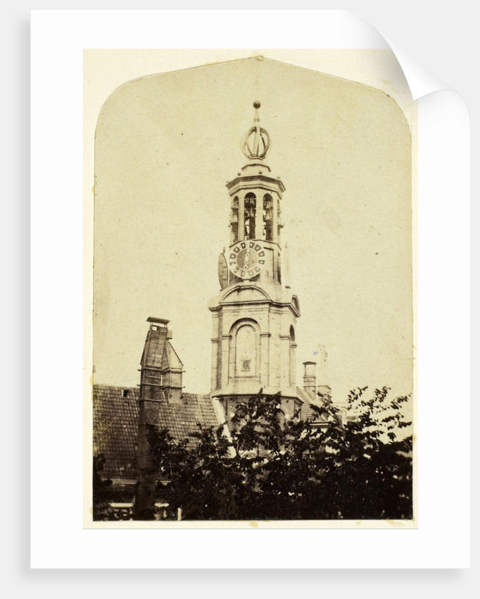 View from the house of the photographer on the Munt Tower in Amsterdam by Eduard Isaac Asser