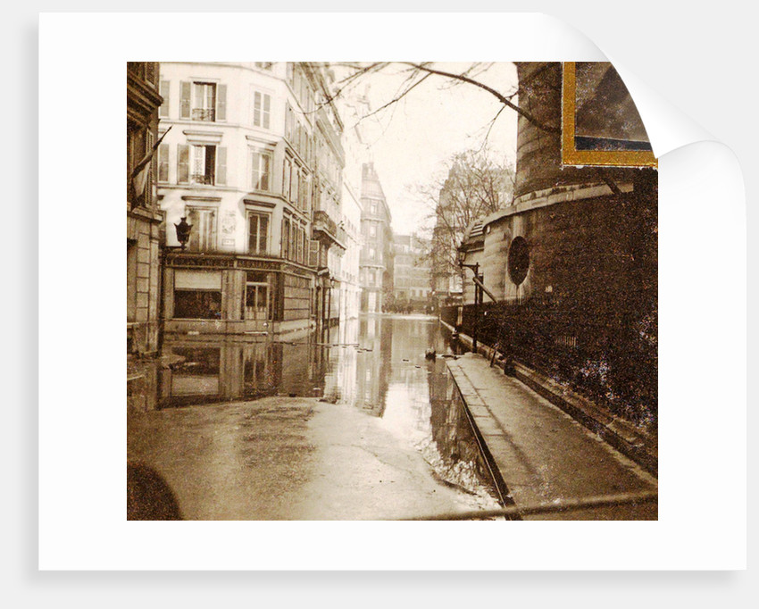 album flooding Paris suburbs in 1910, France by Anonymous