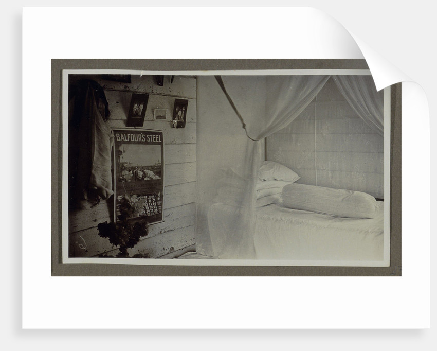 Bedroom with a bed by Anonymous