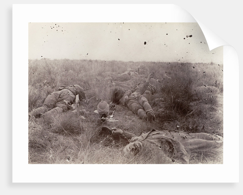 Englishmen slain at Spioencup,the battle of Spion Kop, Second Boer War by Anonymous