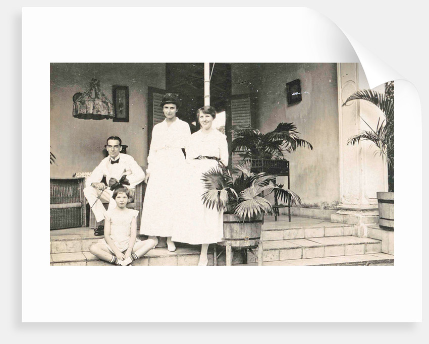 Batavia, group portrait on front porch, Jakarta Indonesia by Anonymous