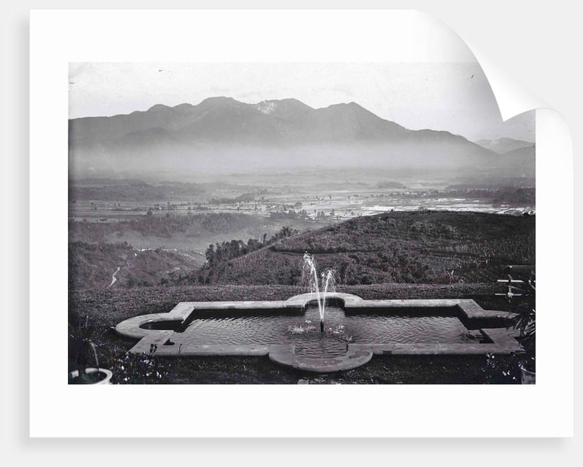 Java panorama Goentoer from the Kurhaus Parahyangan or Priangan or Preanger Java, Indonesia by Anonymous
