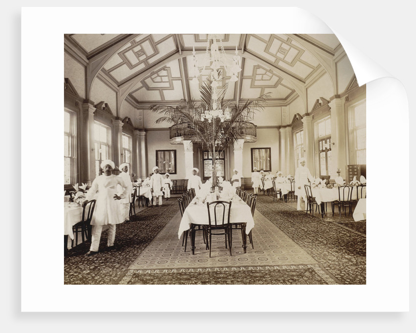 Africa, Royal Hotel dining room interior in Durban Natal, South Africa by Anonymous