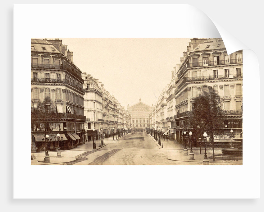 Avenue de l'Opera, seen in the direction of the Opera by Anonymous