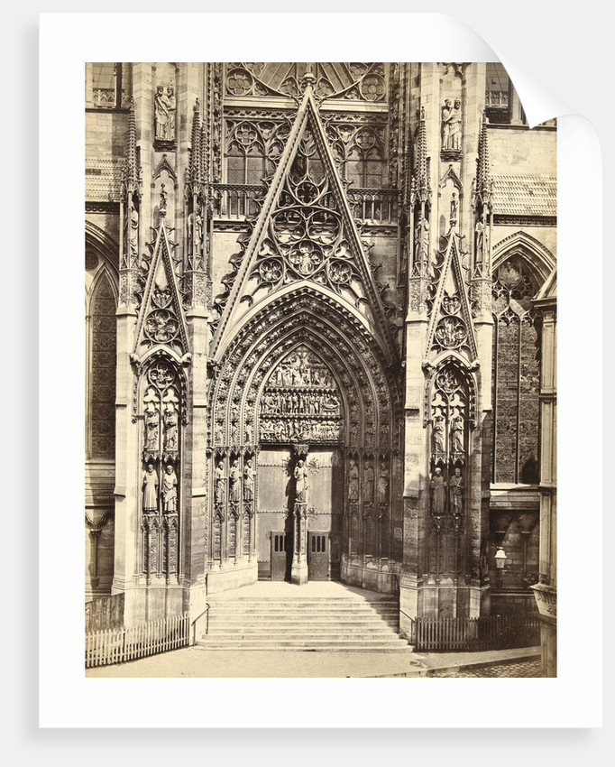 Façade of Notre Dame in Rouen France by Anonymous