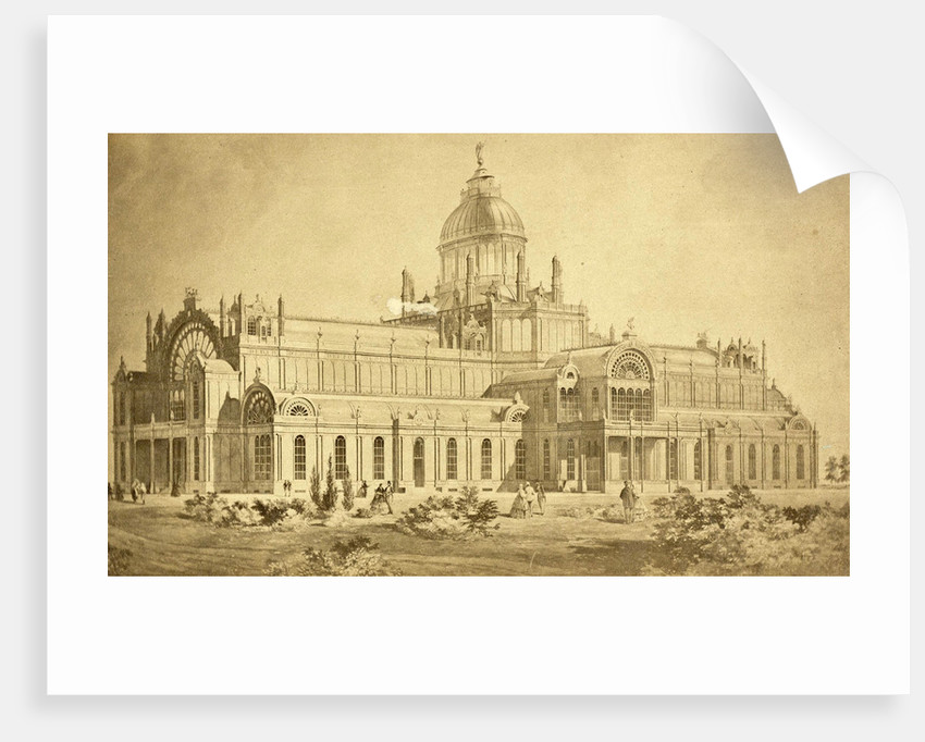 Drawing of the Palace of Industry in Amsterdam by Anonymous