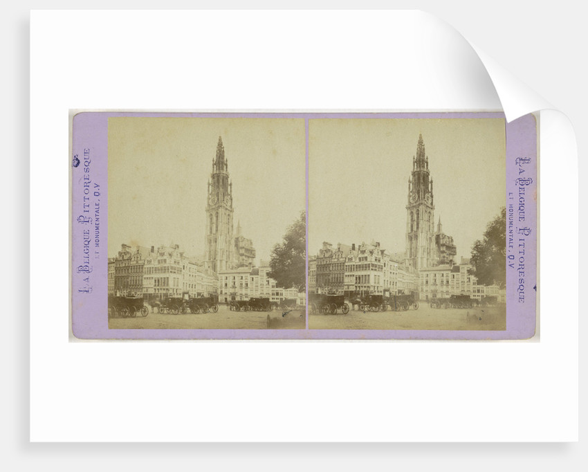 Antwerp Anvers Antwerpen Cathedral and old houses of the Grand Place by Jules Queval