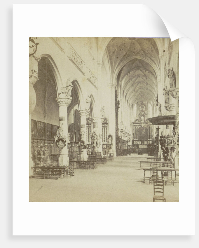 Antwerp Anvers Antwerpen, Church of St. Paul, shooting in the organ by Jules Queval